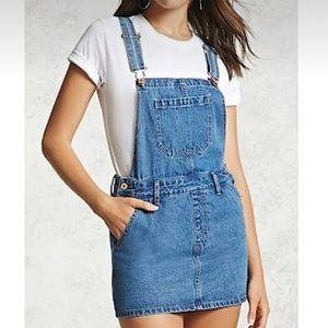 NWOT  FOREVER 21   Jean skirt overalls size M